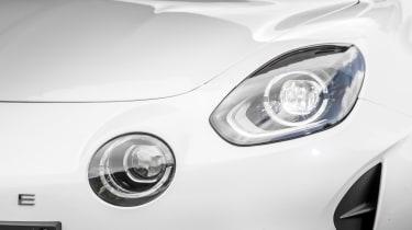 Alpine A110 ride review - headlight