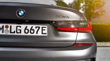 BMW 330e - rear badge