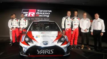 New Toyota Yaris WRC rally car - reveal team