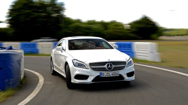 New Mercedes CLS 2014 cornering
