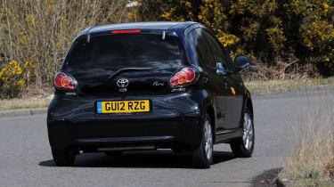Toyota Aygo rear cornering