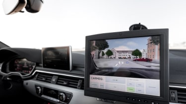 Audi Virtual Training Car dash
