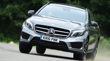 Mercedes GLA - front cornering