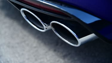 The Golf R gets quad exhausts to mark it our from the rest of the Golf Estate range.