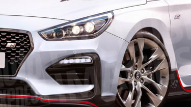 Hyundai i30 N Fastback lights