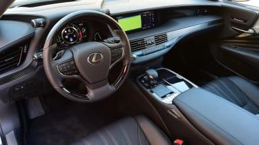 Lexus LS 500h 2018 review - interior front