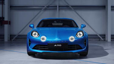 Alpine A110 sports car 2017 - studio front