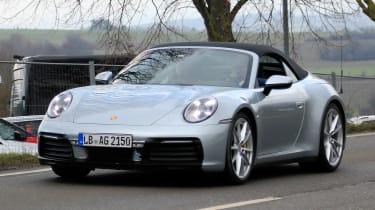 New Porsche 911 Cabriolet - spyshot 1