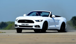 Convertible megatest - Ford Mustang - front cornering
