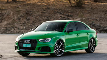 Audi RS3 Saloon 2017 - front quarter