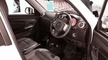 Mahindra e2o - white interior