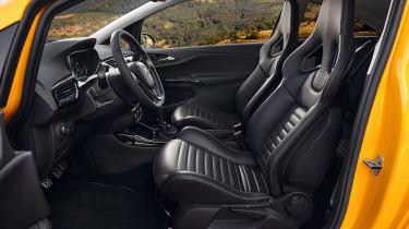 Vauxhall Corsa GSi - front seats