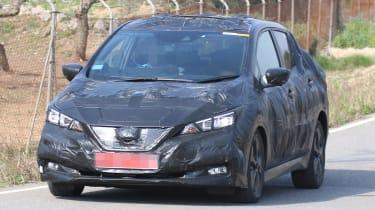 Nissan Leaf 2018 spy shot front quarter