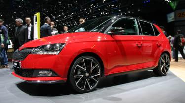 Skoda Fabia facelift - Geneva front/side