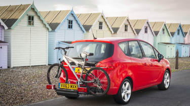 Vauxhall Meriva 2014 facelift - bike rack out