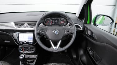 Dashboard design is a vast improvement over previous car's, with IntelliLink touchscreen adding smartphone connectivity.