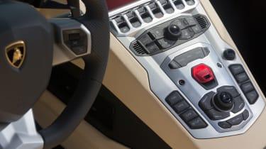 Lamborghini Aventador Roadster interior detail