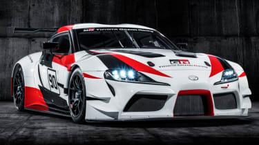 Toyota GR Supra concept headlights on