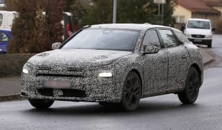Citroen C5 electric car spy shots