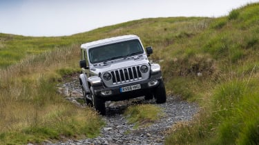 Green Laning  - Jeep Wrangler descent