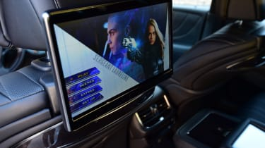 Lexus LS 500h 2018 review - rear TV screen