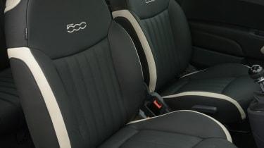 Fiat 500 Cult 2014 front seats