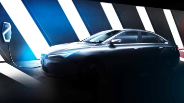 Geely electric saloon - teaser