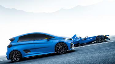 Renault ZOE e-sport - side tracking 2