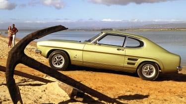 Ford Capri - side profile on beach
