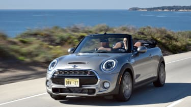 MINI Cooper S Convertible 2016 review - front tracking
