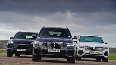 BMW X5 vs Volkswagen Touareg vs Porsche Cayenne - head-to-head