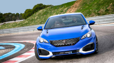 """<p class=""""p1"""">The handling, steering and even the ride of the 308 R HYbrid feel sharp, tidy, polished, composed.</p>"""