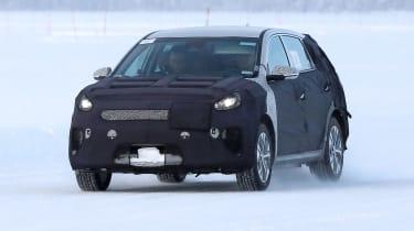 Kia Niro EV testing ice