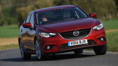 Mazda 6 saloon 2.2D Sport Nav front action