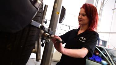 Female trainee mechanic