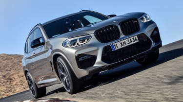 BMW X3 M Competition - front cornering