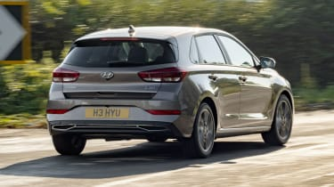 New Hyundai i30 driving - rear