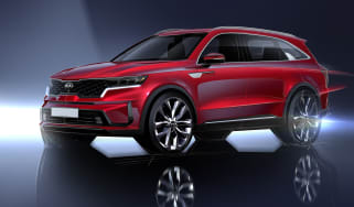 Kia Sorrento - sketch - front 3/4 static