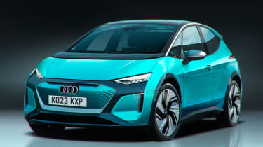 Audi electric supermini - front (watermarked)