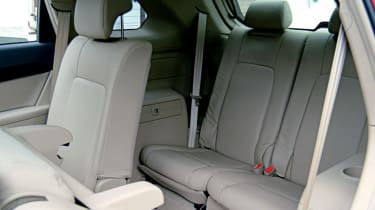 Seven-seater's middle row tilts forward to give access to rearmost chairs