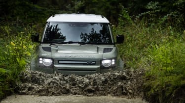 Land Rover Defender P400e PHEV - front water