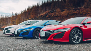 Honda Civic Type R and NSX front bumpers