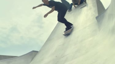 Lexus hoverboard - downhill banking shot
