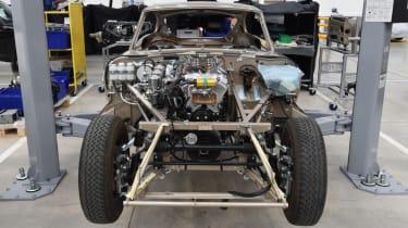 Jaguar E-Type restoration project front