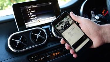 Mercedes X 250 d - phone connect