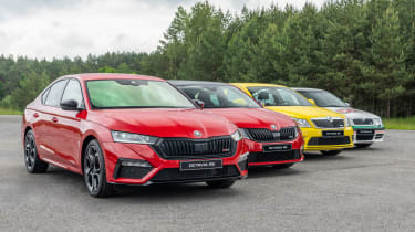 Four stages of vRS show how the hot hatch has evolved since its launch back in 2001