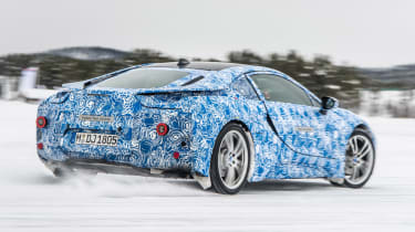 BMW i8 rear cornering