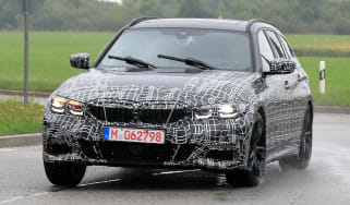 BMW 3 Series Touring spied - front
