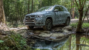 Mercedes GLE prototype - off-road water