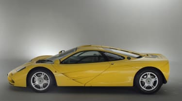 McLaren F1 Yellow side